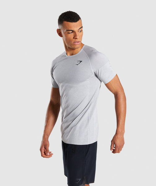 Gymshark Shadow X Seamless T-Shirt - Light Grey Marl 2