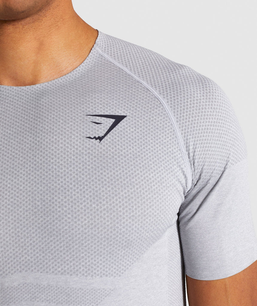 Gymshark Shadow X Seamless T-Shirt - Light Grey Marl 6