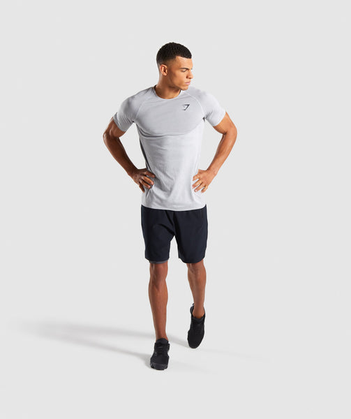 Gymshark Shadow X Seamless T-Shirt - Light Grey Marl 3