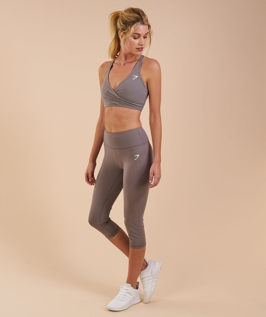 Gymshark Dreamy Cropped Leggings - Slate Grey 6