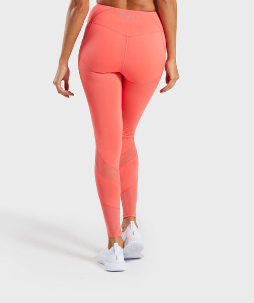Gymshark Sleek Sculpture Leggings 2.0 - Intense Coral 4