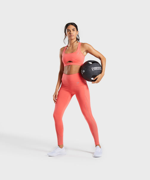 Gymshark Sleek Sculpture Leggings 2.0 - Intense Coral 3