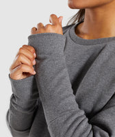 Gymshark Slounge Crescent Sweater - Charcoal Marl 12