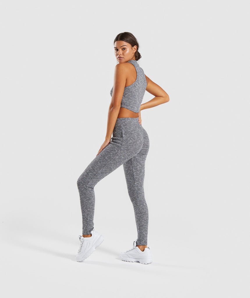 Gymshark Slounge Crop Top - Charcoal Marl 5