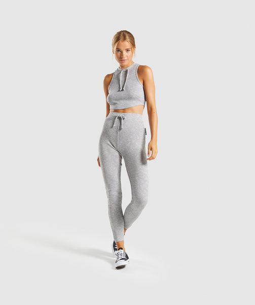 Gymshark Slounge Crop Top - Light Grey Marl 3