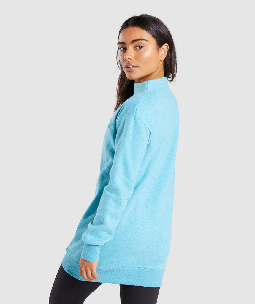 Gymshark So Soft Sweater - Dusky Teal Marl 2