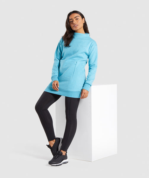 Gymshark So Soft Sweater - Dusky Teal Marl 3