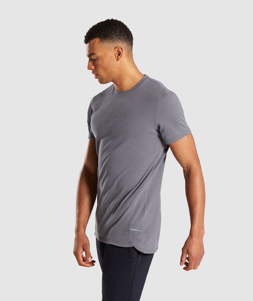 Gymshark Stamped Logo T-Shirt - Smokey Grey 2