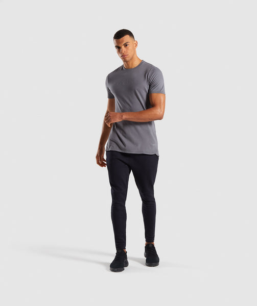 Gymshark Stamped Logo T-Shirt - Smokey Grey 3