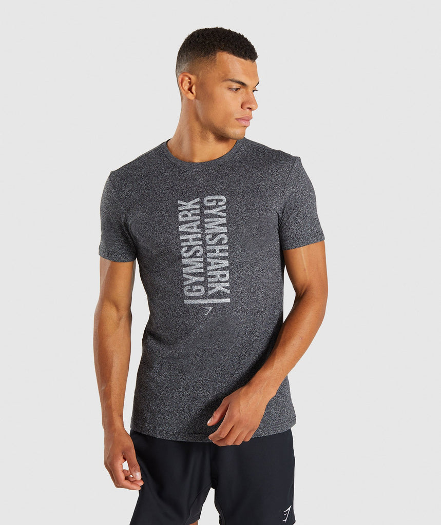 Gymshark Statement T-Shirt - Black Marl 4