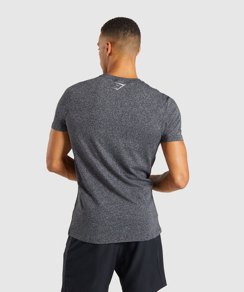 Gymshark Statement T-Shirt - Black Marl 1