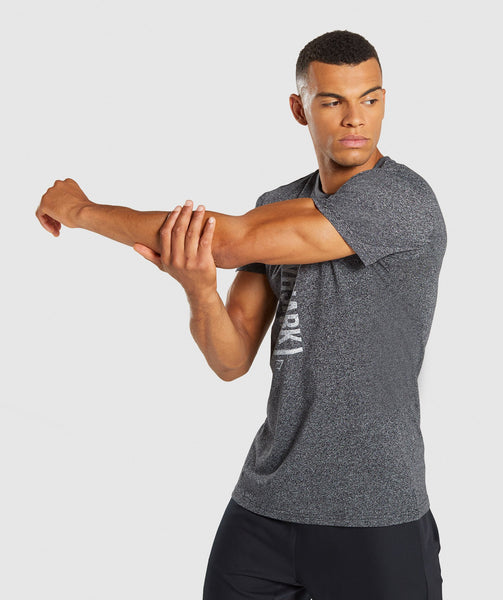 Gymshark Statement T-Shirt - Black Marl 2