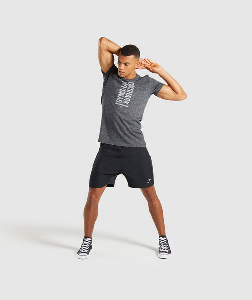 Gymshark Statement T-Shirt - Black Marl 3