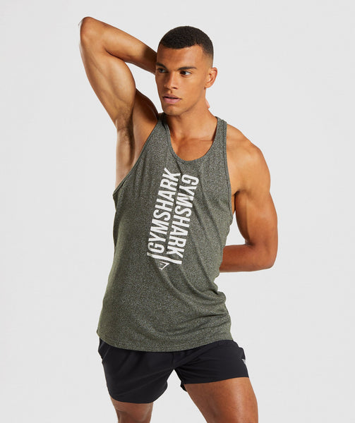 Gymshark Statement Stringer - Woodland Green Marl 2