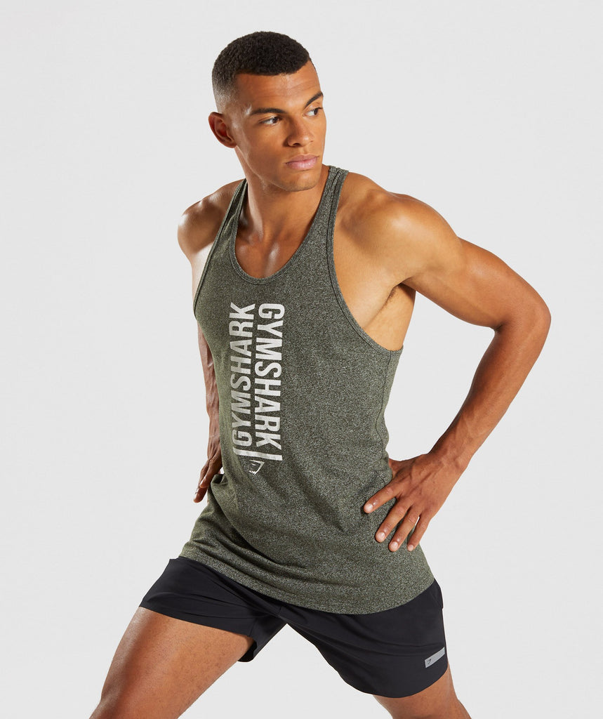 Gymshark Statement Stringer - Woodland Green Marl 4