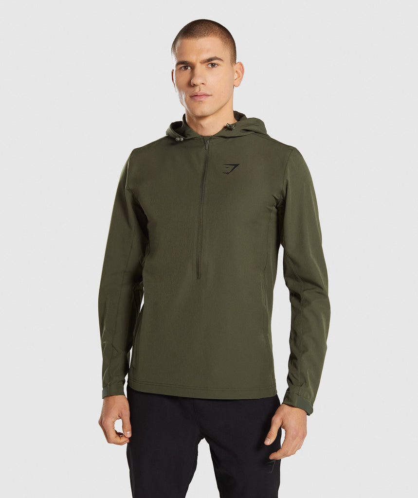 Gymshark Stealth Pullover - Woodland Green 1