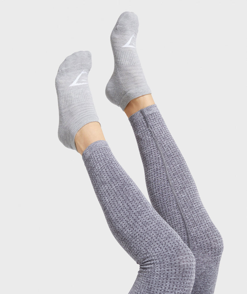 Gymshark Trainer Socks (3Pk) - Grey 1
