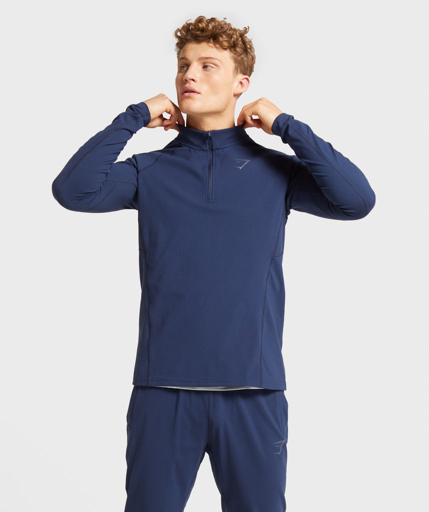 Gymshark Training 1/4 Zip Pullover - Dark Blue 1