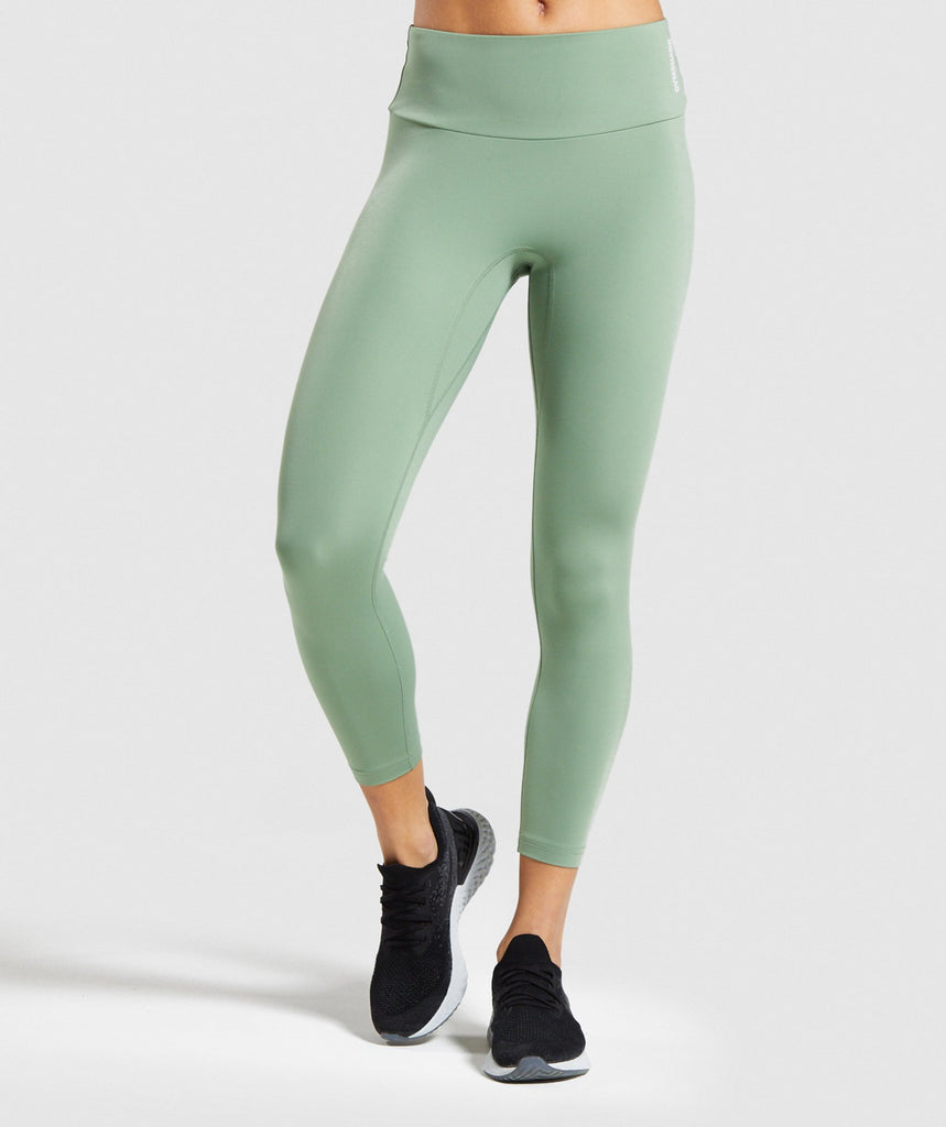 Gymshark Training 7/8 Leggings - Green 1