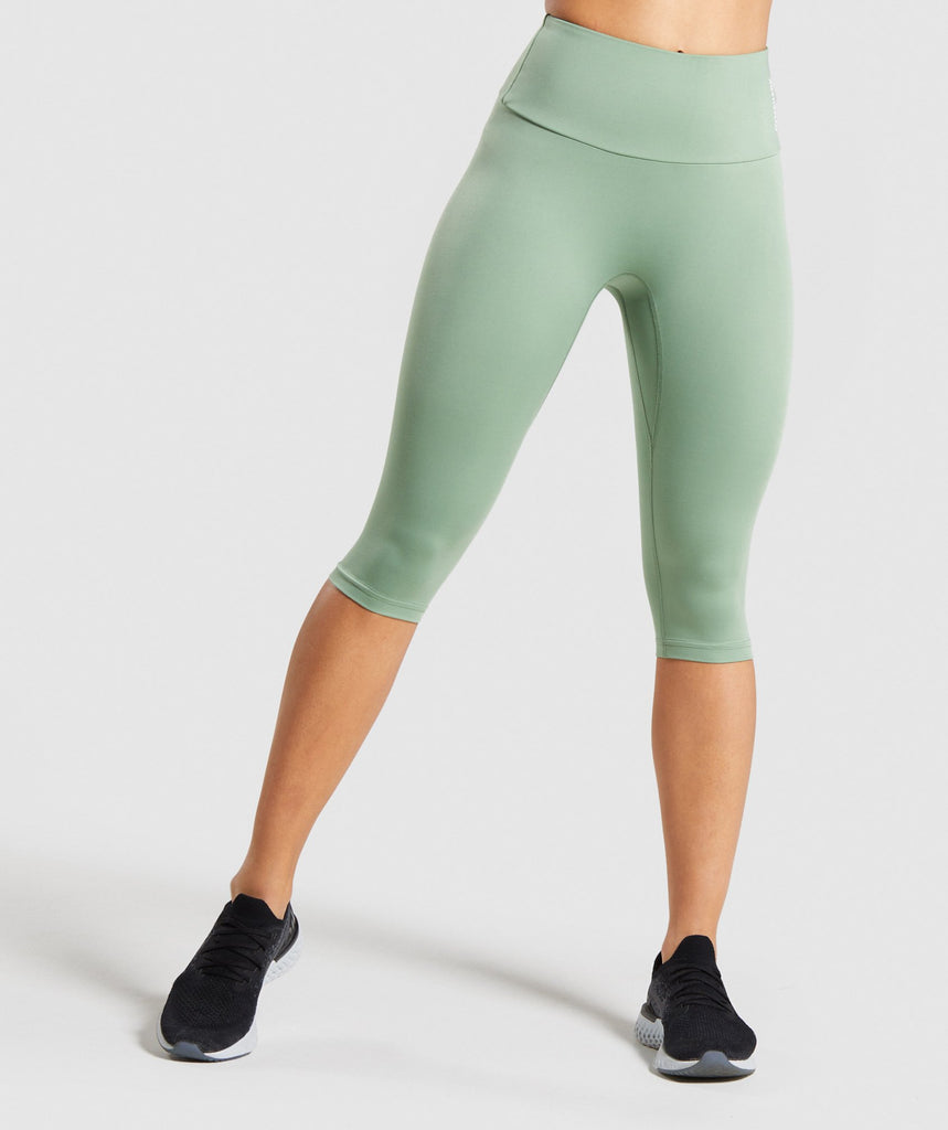 Gymshark Training Cropped Leggings - Green 1