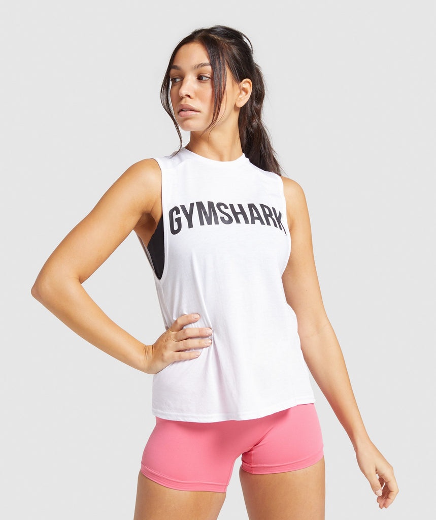 Gymshark Training Oversized Tank - White 1