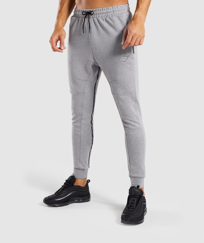 Gymshark Take Over Bottoms - Light Grey Marl 1