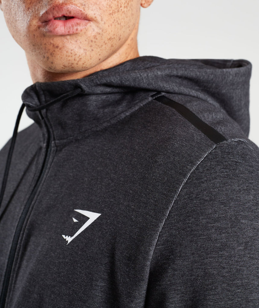 Gymshark Take Over Zip Hoodie - Black Marl 5