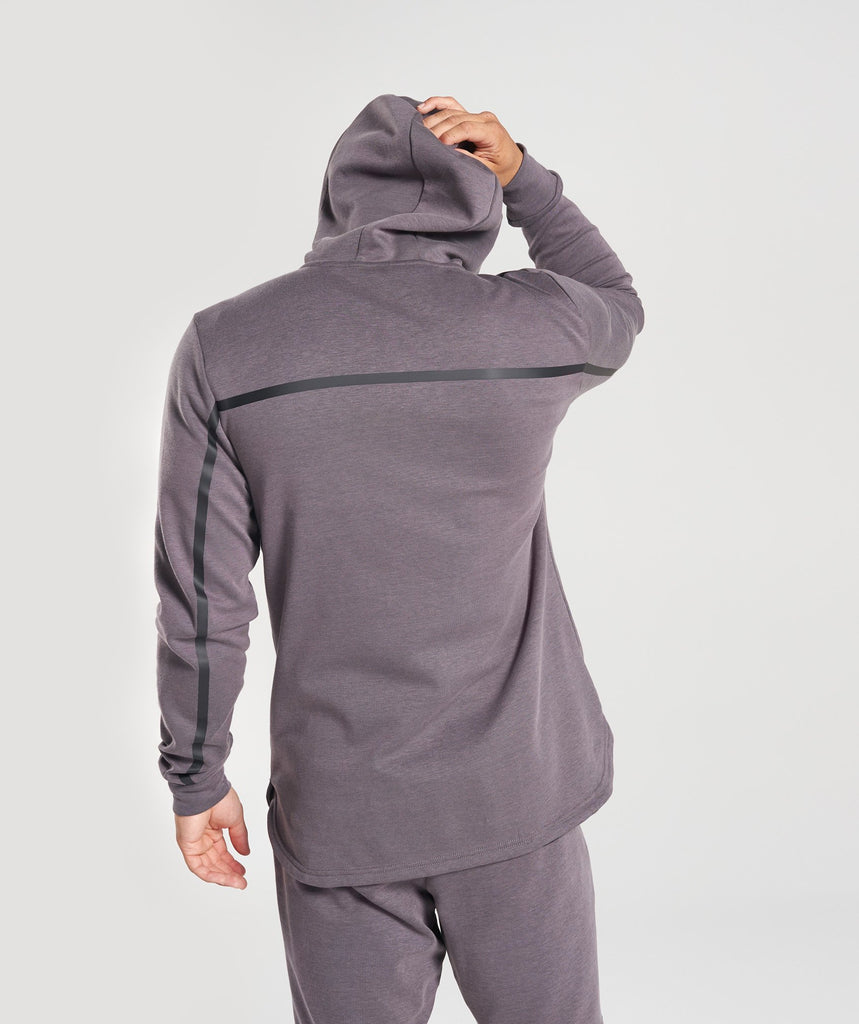 Gymshark Take Over Zip Hoodie - Slate Lavender Marl 2