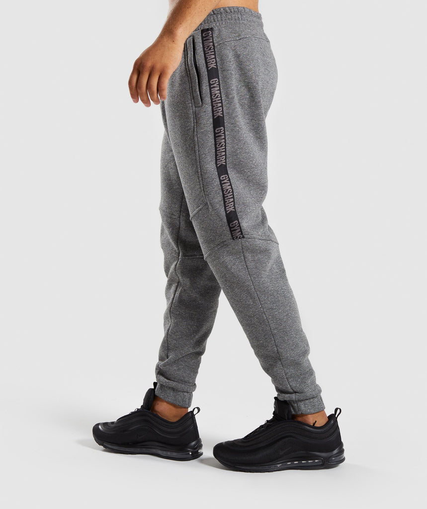 Gymshark Taped Joggers - Grey Marl 1