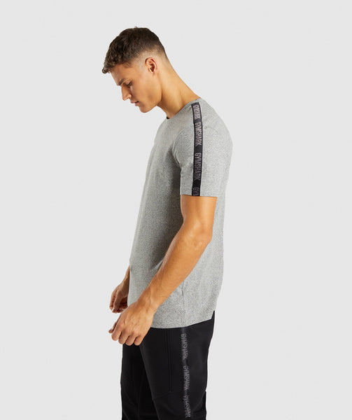 Gymshark Taped T-Shirt - Grey Marl 2
