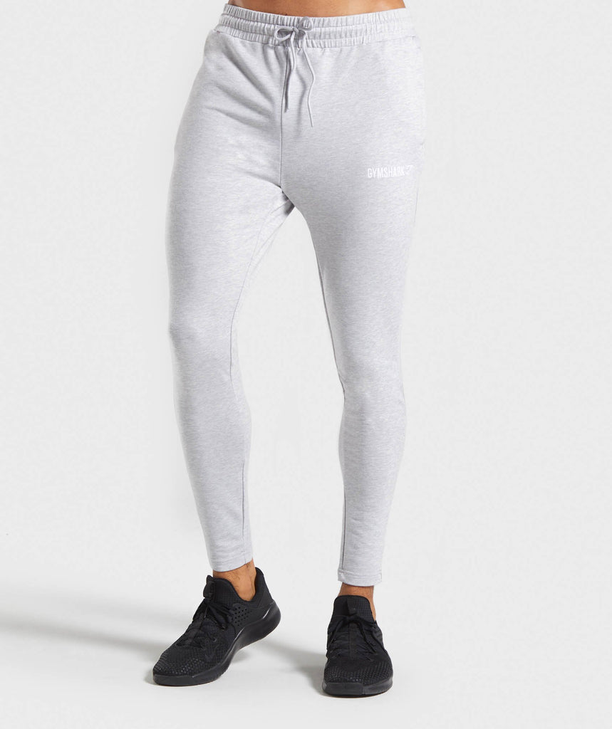 Gymshark Tapered Bottoms - Light Grey Marl 1