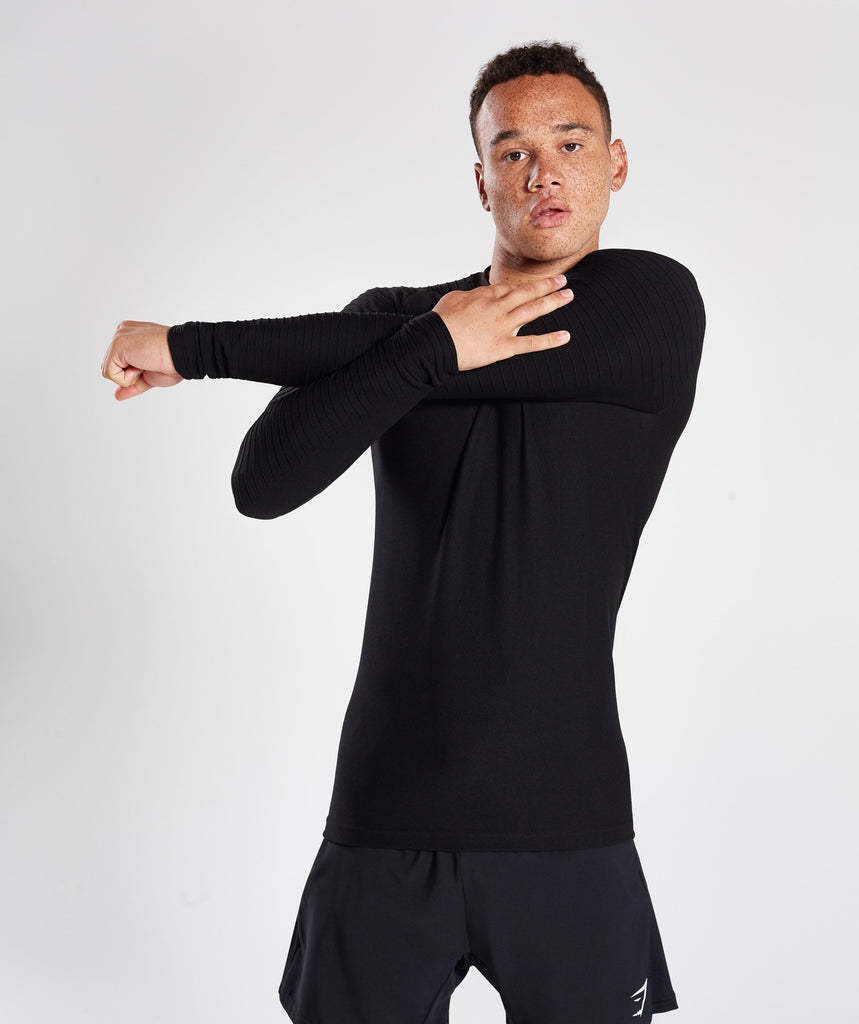 Gymshark Tech Long Sleeve Top - Black 1
