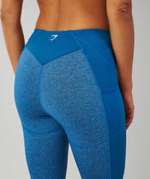 Gymshark Textured Leggings - Petrol Blue 11