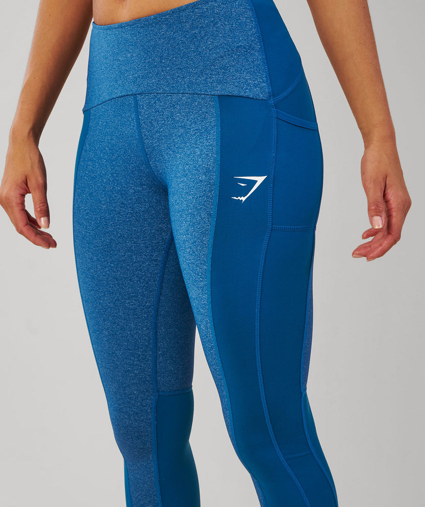 Gymshark Textured Leggings - Petrol Blue 6