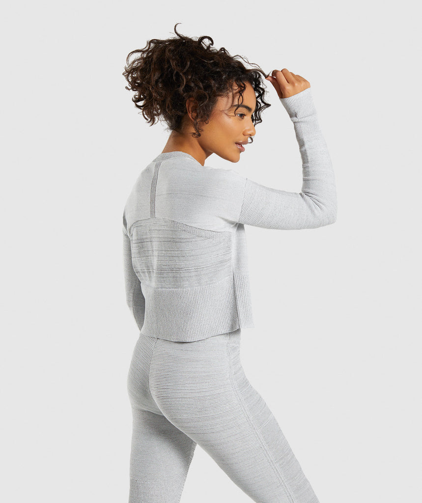 Gymshark Time Out Knit Sweater - Light Grey 2
