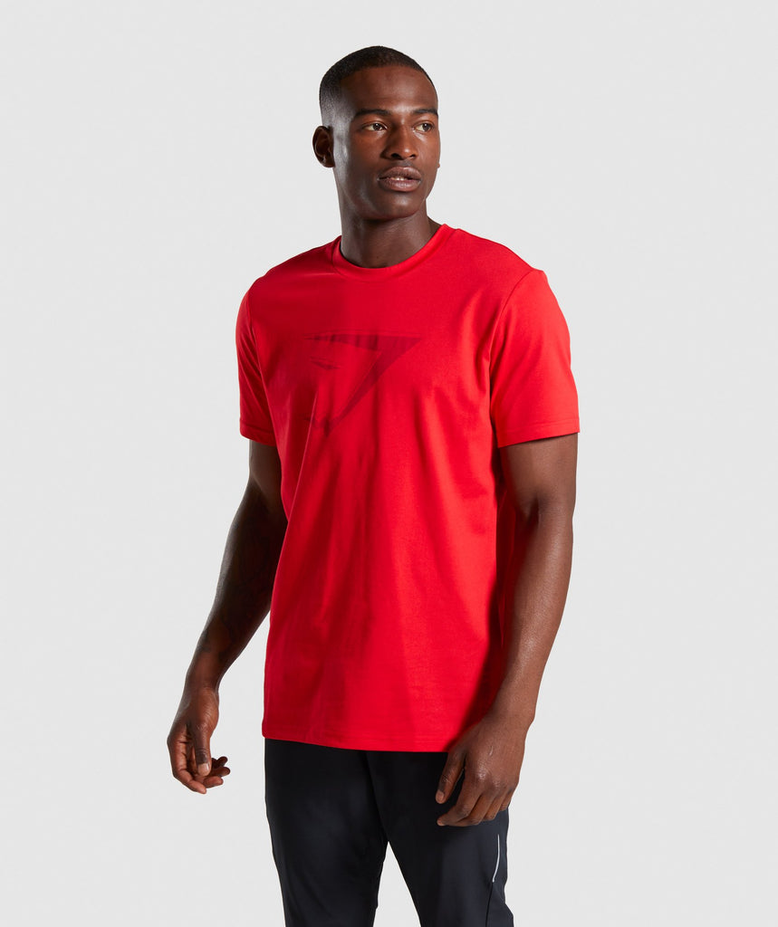 Gymshark Tonal T-Shirt - Red 1