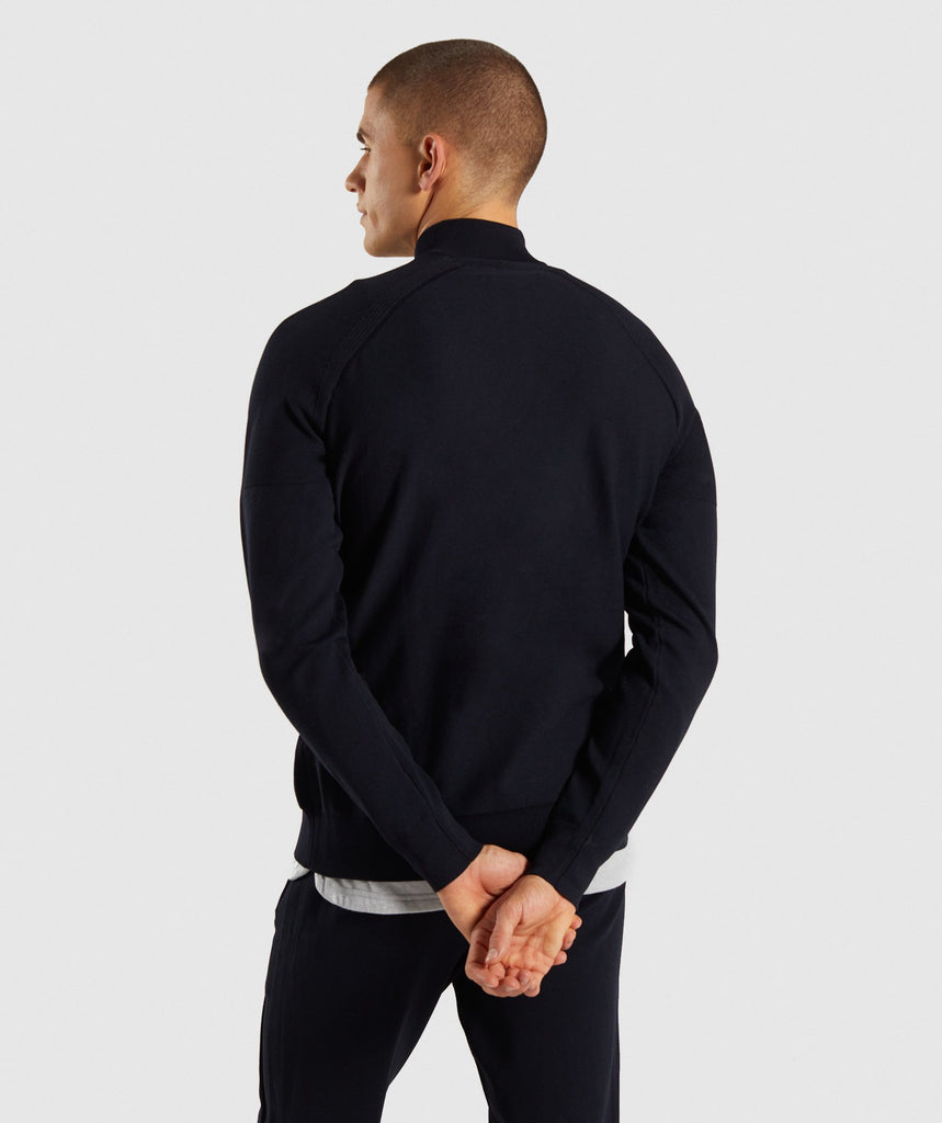 Gymshark True Knit Zip Up - Black 2