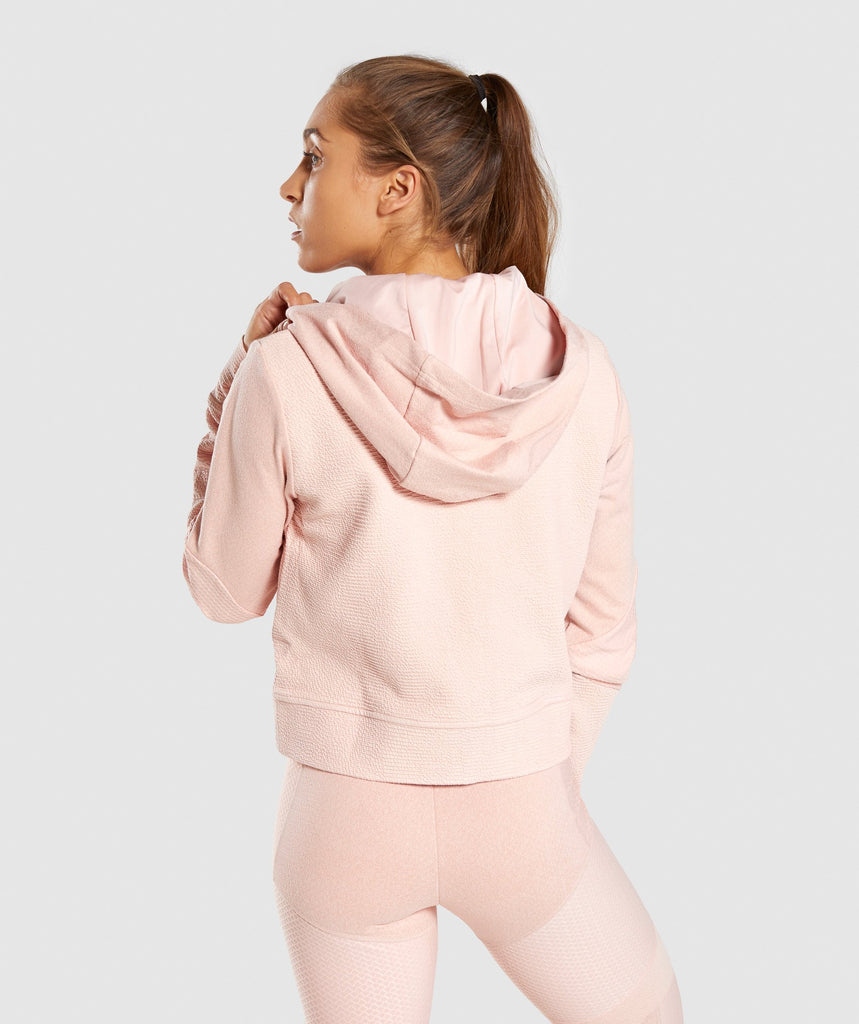 Gymshark True Texture Hooded Bomber Jacket - Blush Nude 2