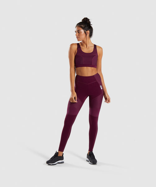 Gymshark True Texture Sports Bra - Dark Ruby 3