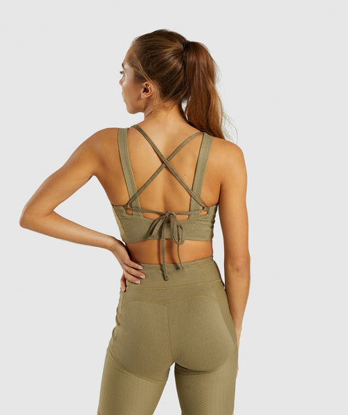 eb40dde923a82 Gymshark True Texture Bralette - Washed Khaki 1 ...