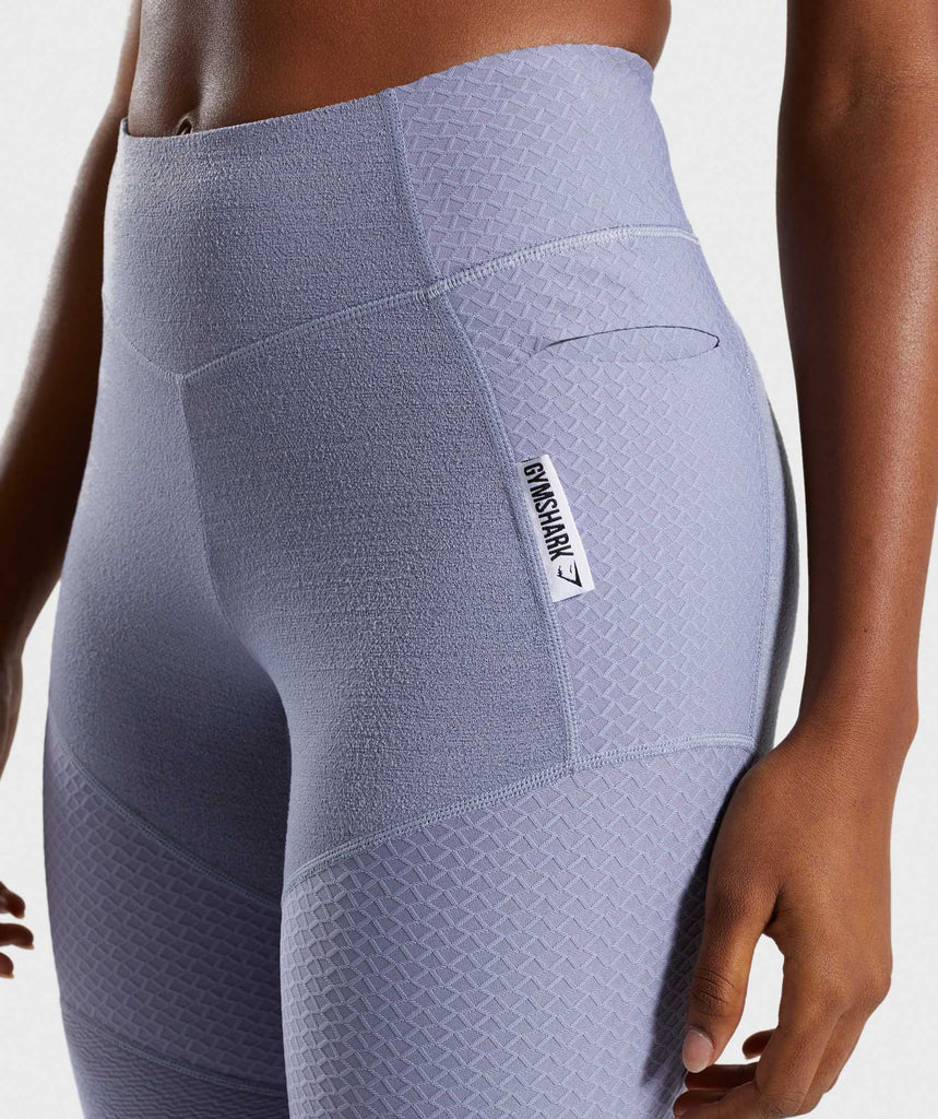 Gymshark True Texture Leggings - Steel Blue 5
