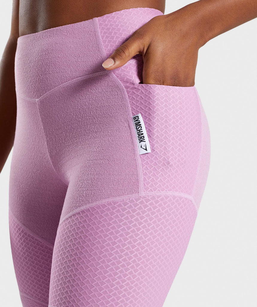Gymshark True Texture Leggings - Pink 5