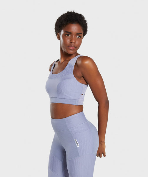Gymshark True Texture Sports Bra - Steel Blue 2