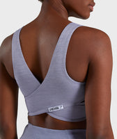 Gymshark True Texture Sports Bra - Steel Blue 12