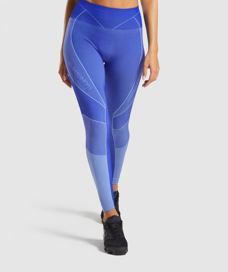 e0166d712e6ba4 Gymshark Turbo Seamless Leggings - Cobalt Blue ...