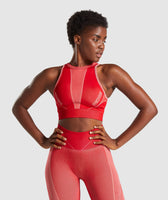 Gymshark Turbo Seamless Sports Bra - Brick Red 7
