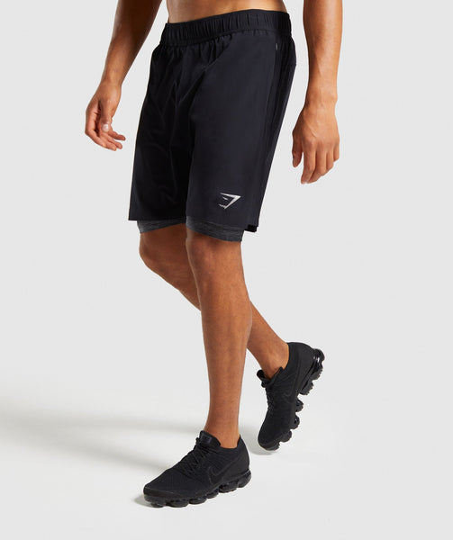 Gymshark 2 In 1 Training Shorts - Black 4
