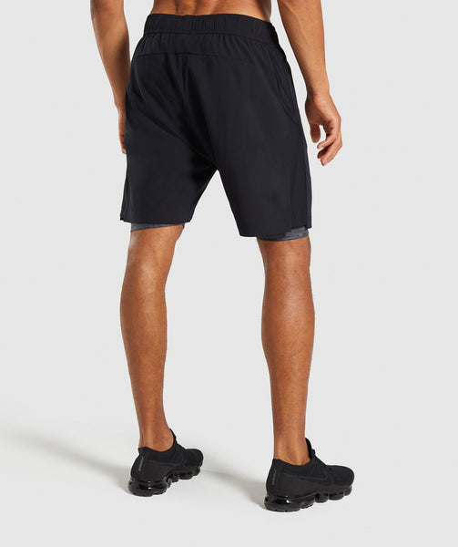 Gymshark 2 In 1 Training Shorts - Black 1