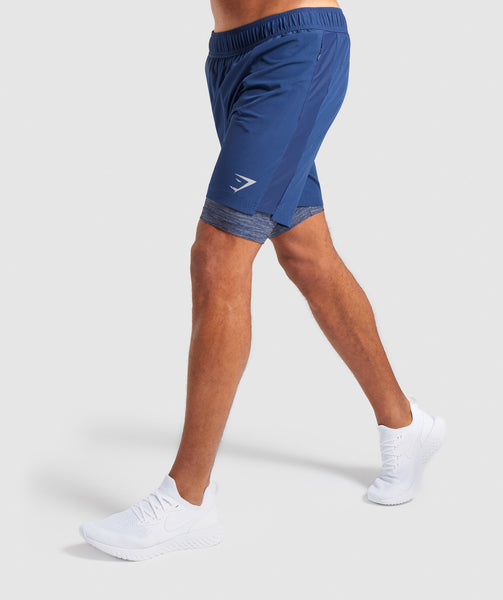 Gymshark 2 In 1 Training Shorts - Sapphire Blue 2