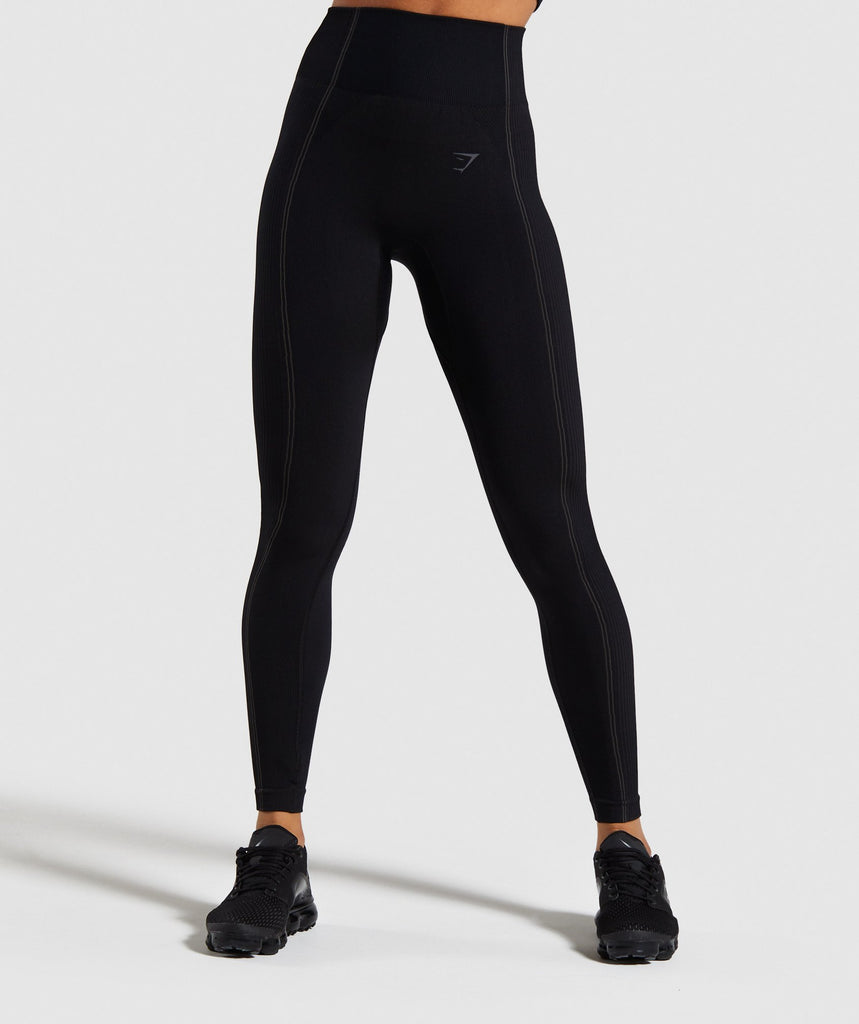 Gymshark Ultra Seamless Leggings - Black 1